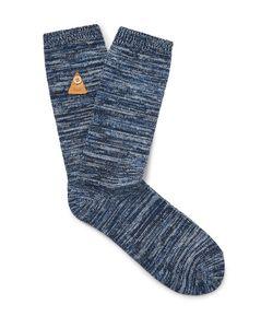 Folk   Mélange Stretch Cotton-Blend Socks