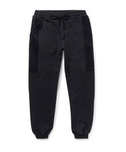 Casely-Hayford | Warfield Tapered Cotton-Blend Sweatpants Black