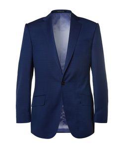 Richard James | Navy Slim-Fit Basketweave Wool Suit Jacket Blue