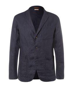 Kapital | Blue Slim-Fit Unstructured Linen Blazer Blue
