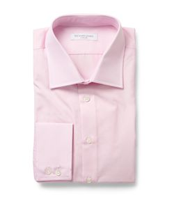 Richard James | Pink Cotton-Poplin Shirt Pink