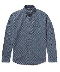Alex Mill | Button-Down Collar Floral-Print Cotton Shirt Blue