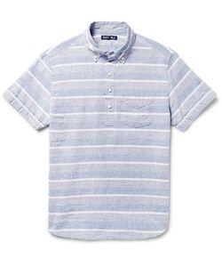 Alex Mill | Button-Down Collar Striped Linen And Cotton-Blend Shirt Blue