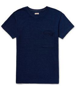 Kapital | Slim-Fit Patchwork-Panelled Cotton-Jersey T-Shirt Blue