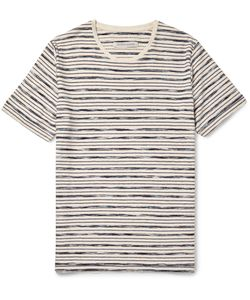 Outerknown | Bahia Striped Organic Cotton T-Shirt Blue