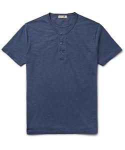 Alex Mill | Cotton-Jersey Henley T-Shirt Blue