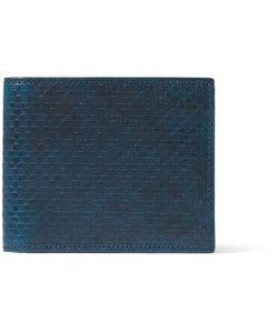 Richard James | Embossed Leather Billfold Wallet Blue