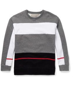 Casely-Hayford | Mayweather Colour-Block Cotton-Blend Sweatshirt Gray