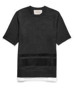 Casely-Hayford | Astra Flocked Cotton-Blend Sweatshirt Black