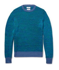 Richard James | Birdseye-Knit Linen And Cotton-Blend Sweater Blue