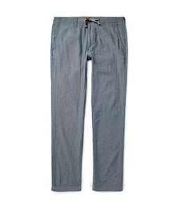 Alex Mill | Cotton-Chambray Trousers Blue