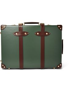 Globe-Trotter | 21 Leather-Trimmed Trolley Case Green