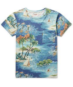 Kapital | Slim-Fit Printed Cotton-Jersey T-Shirt Blue