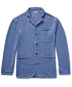 Kapital | Knitted Linen Cardigan Blue