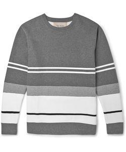 Casely-Hayford | Bradfield Flocked Cotton-Blend Jersey Sweatshirt Gray