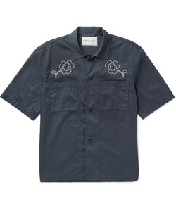 Our Legacy | Embroidered Washed-Cotton Satin Shirt
