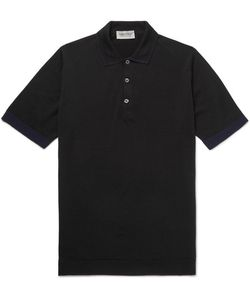 John Smedley | Nailsea Contrast-Tipped Virgin Merino Wool Polo Shirt