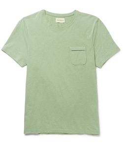 Oliver Spencer | Envelope Mélange Cotton-Jersey T-Shirt