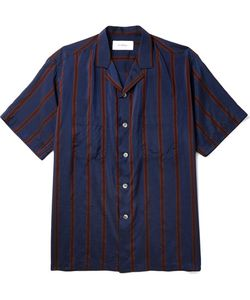 Second/Layer | Camp-Collar Striped Twill Shirt