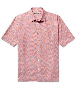 Issey Miyake | Patterned Cotton-Blend Shirt