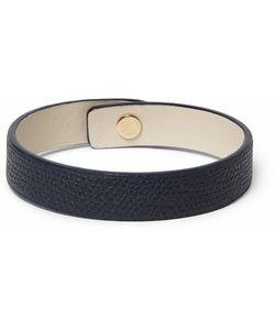 Valextra | Pebble-Grain Leather Bracelet