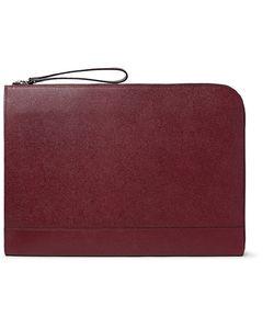 Valextra | Pebble-Grain Leather Portfolio