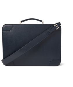 Valextra | Costa Pebble-Grain Leather Briefcase