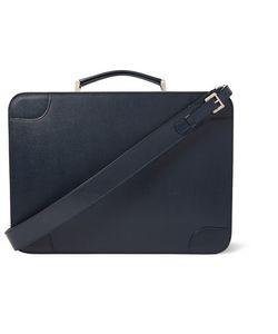 Valextra | Costa Pebble-Grain Leather Briefcase