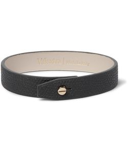 Valextra | Pebble-Grain Leather Bracelet