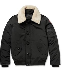 Canada Goose | Foxe Shearling And Leather-Trimmed Shell Down Bomber Jacket