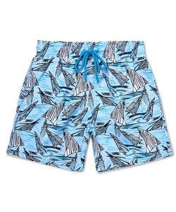 Vilebrequin | Viebrequin Moorea Mid-Ength Printed Swim Shorts Bue