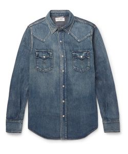 Saint Laurent | Aint Laurent Lim-Fit Wahed-Denim Wetern Hirt