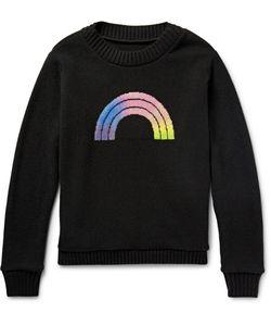 The Elder Statesman | The Elder Statesan Rainbow Intarsia Cashere Sweater