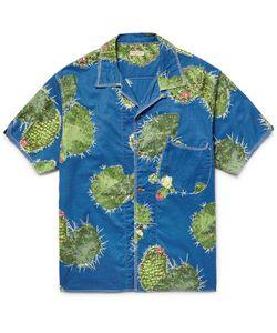 Kapital | Slim-Fit Camp-Collar Printed Cotton-Poplin Shirt