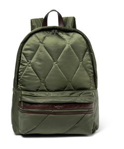 Casely-Hayford | Benton Leather-Trimmed Quilted Shell Backpack
