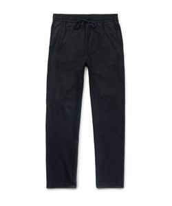 Barena | Tapered Checked Wool And Nylon-Blend Drawstring Trousers