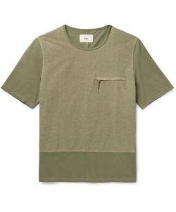 Folk | Slim-Fit Panelled Cotton T-Shirt