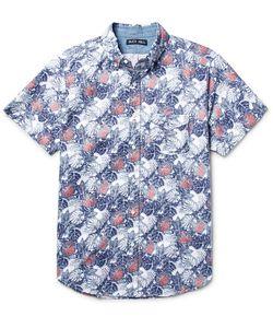 Alex Mill | Button-Down Collar Palm Leaf-Print Cotton Oxford Shirt
