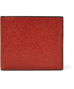 Valextra | Pebble-Grain Leather Billfold Wallet