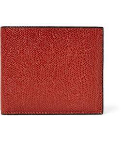 Valextra | Pebble-Grain Leather Billfold Wallet
