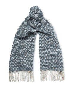 Richard James | Herringbone Wool And Cotton-Blend Scarf