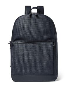 Ermenegildo Zegna | Pelle Tessuta Leather Backpack