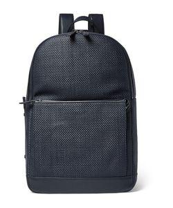 Ermenegildo Zegna | Pelle Tessuta Leather Backpack