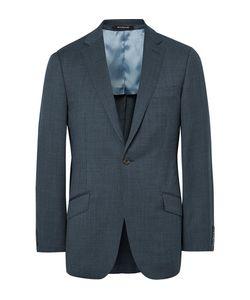 Richard James | Blue Slim-Fit Pin-Dot Super 110s Wool Suit Jacket