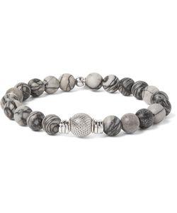 Tateossian | Stonehenge Sterling Silver And Spiderweb Jasper Bracelet