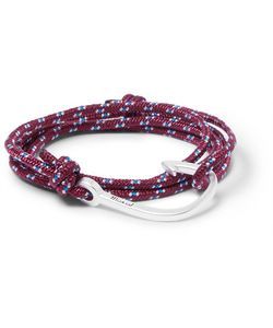 Miansai | Cord And Silver-Plated Hook Wrap Bracelet