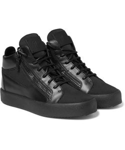 Giuseppe Zanotti | Leather And Mesh High-Top Sneakers