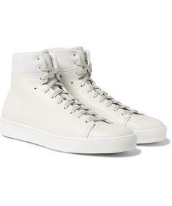 John Elliott   Panelled Leather High-Top Sneakers