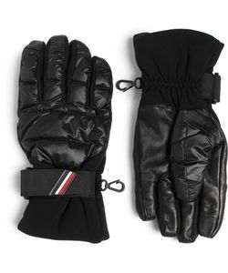 Moncler Grenoble | Shell Leather And Jersey Down Ski Gloves