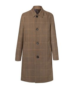 Wooyoungmi | Prince Of Wales Checked Wool Overcoat